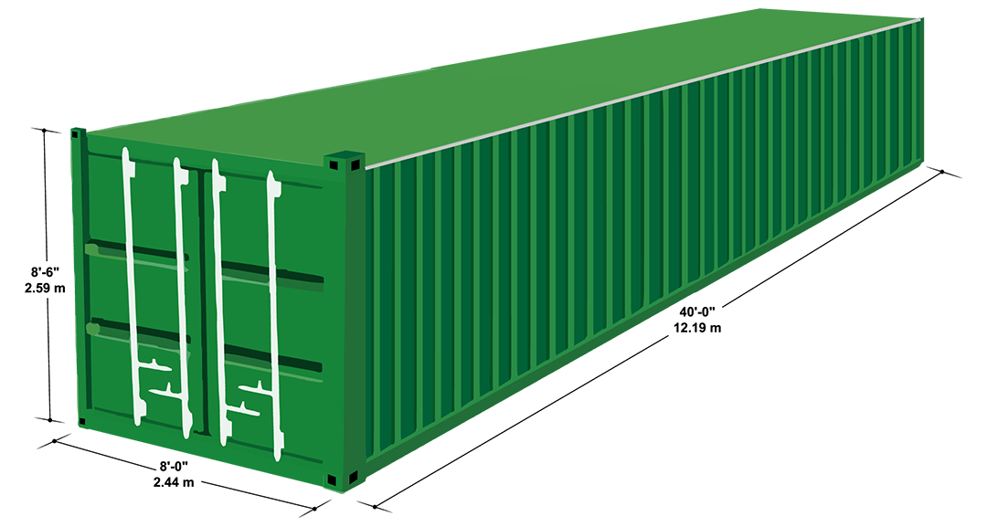 40´ Steel Dry Cargo Container
